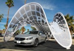 VOLVO'S 'SOLAR PAVILION' CHARGER FOR CARS UNFOLDS LIKE AN ELECTRIC BUTTERFLY
