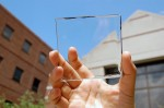 Transparent luminescent solar concentrator
