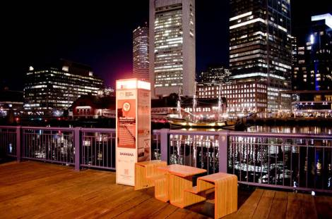 Street Seats, Philips Color Kinetics, Design Museum Boston, Ckyod, HOCR Wireless, Photo Credit: Garrick Dixon
