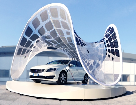 Pure Tension Pavilion at Volvo headquarters, Bologna, Italy