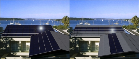 Tractile solar roof